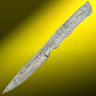 Damascus Bird Knife Blade - Knife making supplies