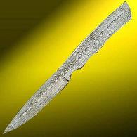 Damascus Bird Knife Blade - Knife making supplies