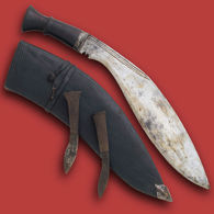 Picture of WWI Issue Vintage Kukri with Original Scabbard