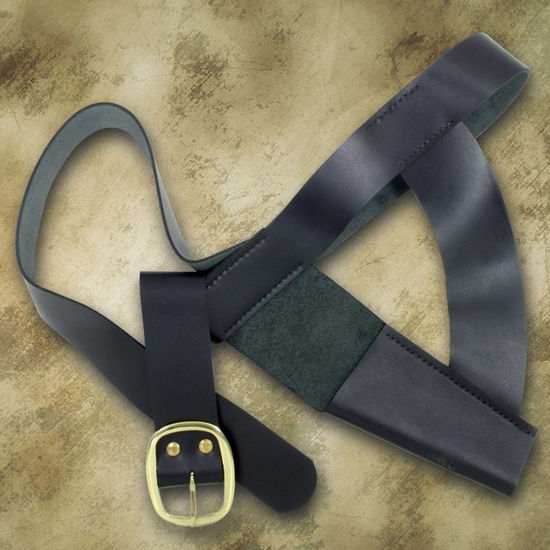 Windlass Brown Bess Musket Waist Belt with Frog