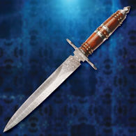 Wild West Damascus Dagger