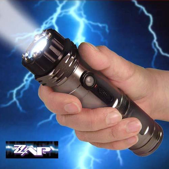 1 Million Volt ZAP Stun Gun with Flashlight & Rechargable Batteries