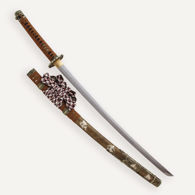 Picture of Brown Ornate Damascus Katana