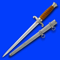 Army Officer WWII Dagger with Scabbard