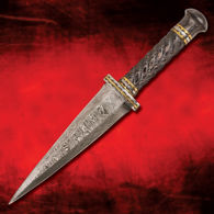 Damascus Dragon's Tooth Dagger