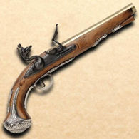George Washington Flintlock Pistol Non firing Replica