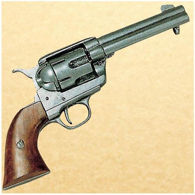Old West 1873 Quick Draw Army Revolver - Pewter