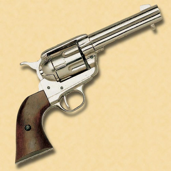 Old West 1873 Quick Draw Army Revolver - Nickel