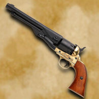 1860 Army Civil War Revolver - Black & Brass Finish