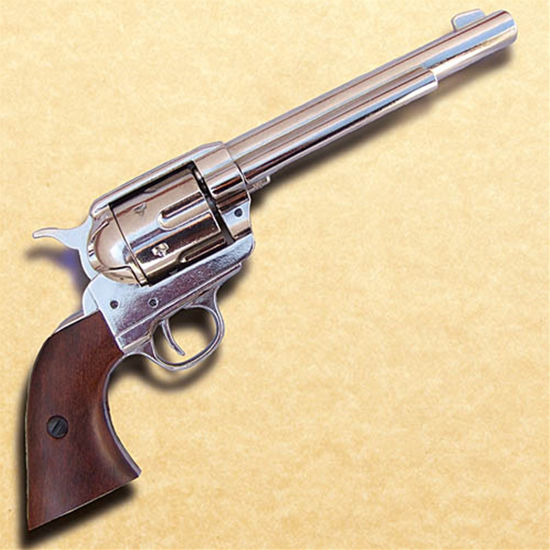 1873 Cavalry Model Nickel Revolver