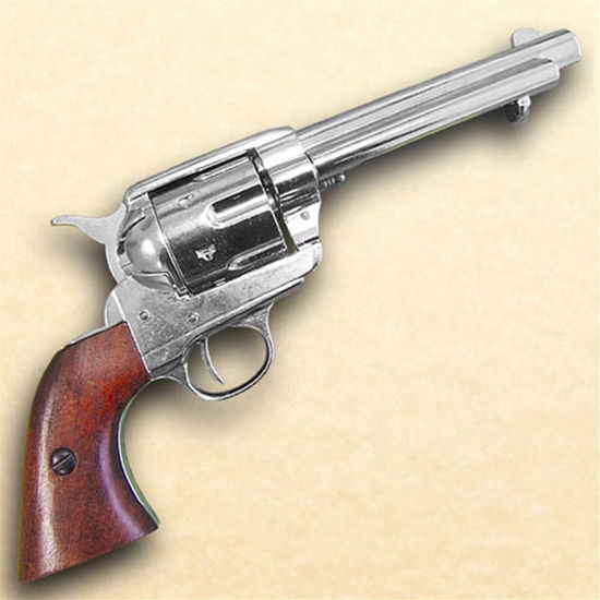 1873 .45 Caliber Revolver Nickel Finish