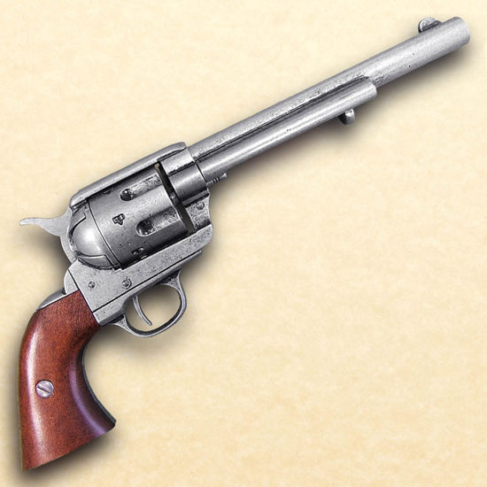 Picture of 1873 .45 Caliber Revolver Cavalry Style Antique Grey Finish