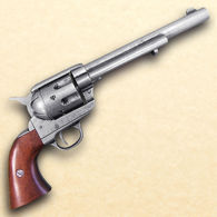Old West Antique Grey Finish Replica Cavalry Barrel Revolver Non-Firing Gun