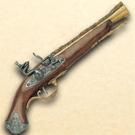 Picture of 18th Century British Flintlock Blunderbuss Pistol - Brass