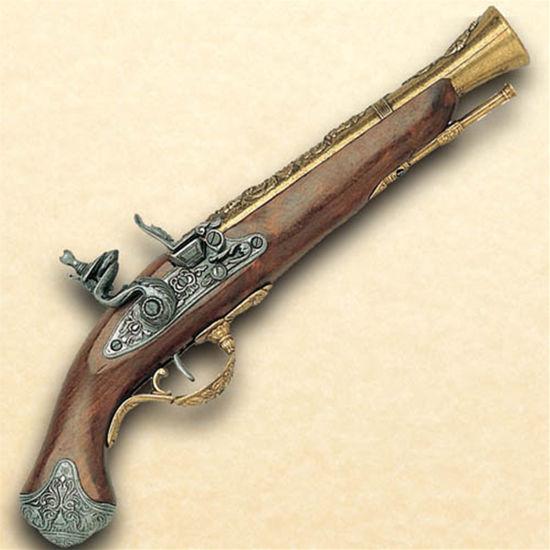 Picture of 18th Century British Flintlock Blunderbuss Pistol - Brass