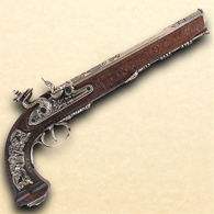 Versailles 1810 Flintlock Dueling Pistol in Nickel finish