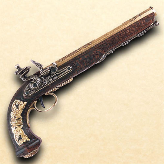 Versailles 1810 Flintlock Dueling Pistol in Brass  Finish