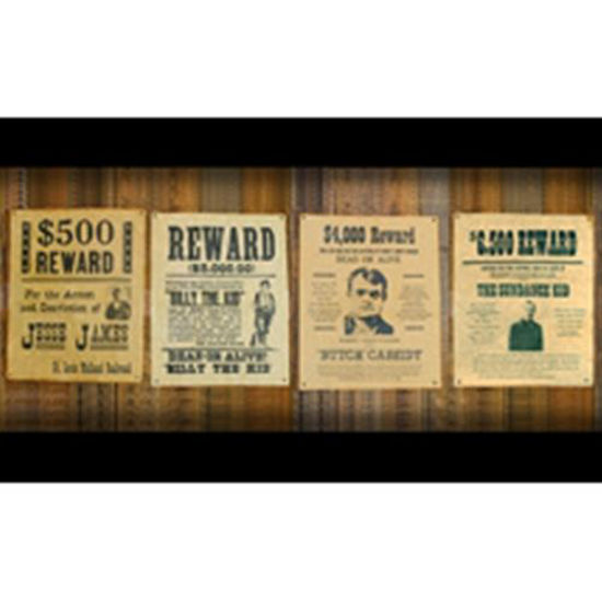 Picture of Old West Wanted Posters - Set of 4