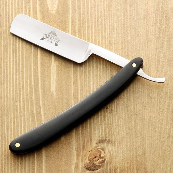 Barbershop Razor with Black Wood Grip