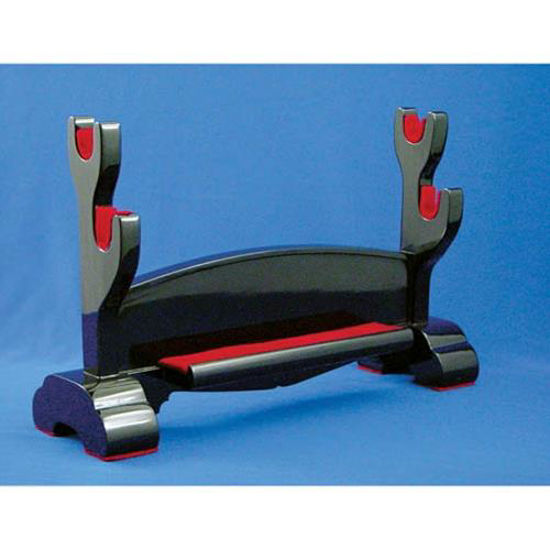 Picture of Double Sword Stand, Black Lacquer