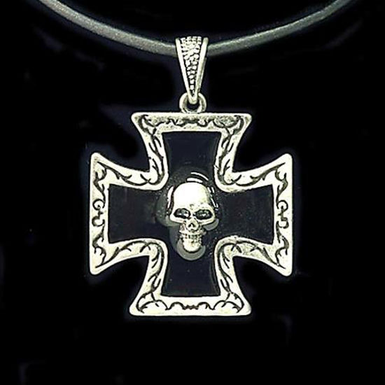 Picture of Pirate Pendant Skull on Maltese Cross