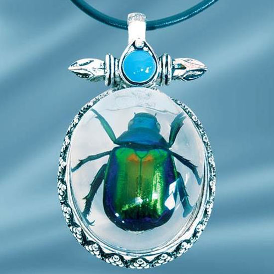 Picture of Insect Art Rutelian Beetle Necklace