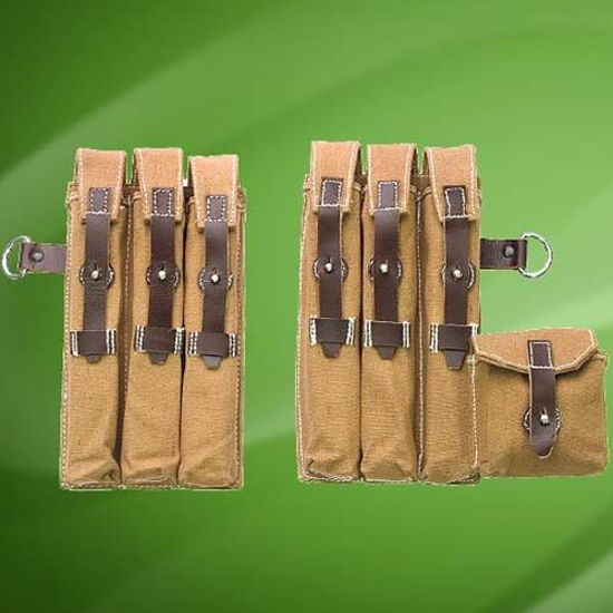 Picture of German WWII MP-40 Mag Pouch Set