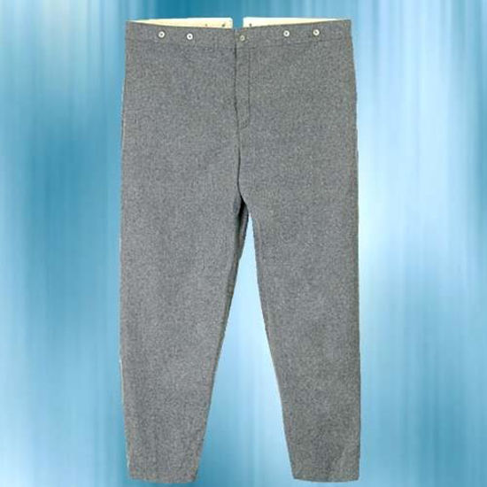 Picture of Youth Confederate Enlisted Men's Gray Trousers