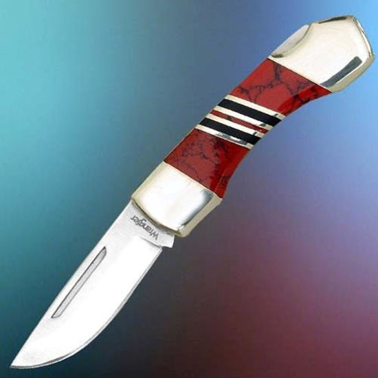 Picture of Red Stone Handle Knife