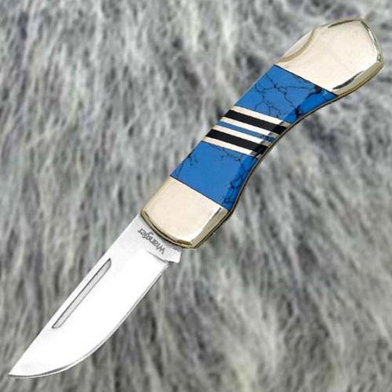 Picture of Blue Stone Handle Knife
