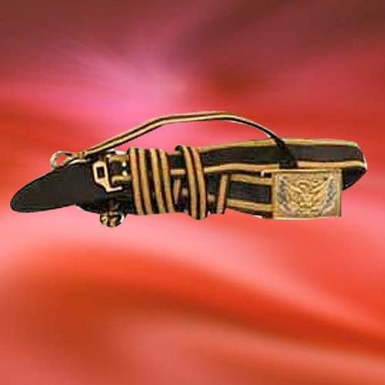 Picture of Officer's Sword Belt with 2 Rows Gold