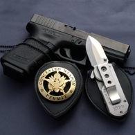 ACC Patented Badge Holder / Satin Folder Knife