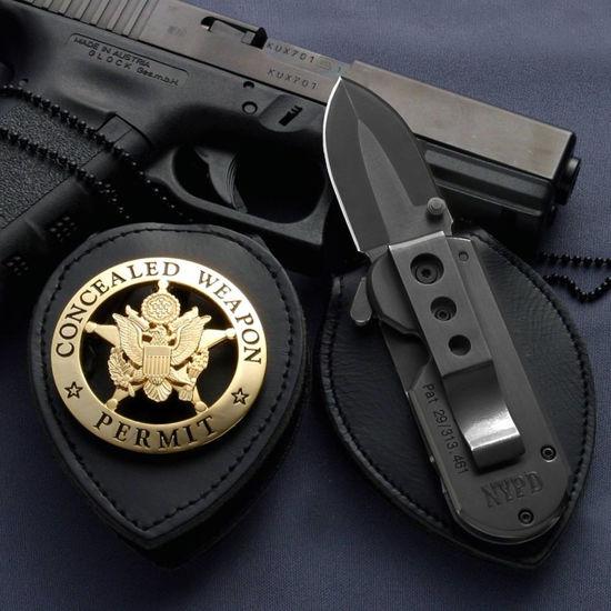ACC Patented Badge Holder / Black Folder Knife
