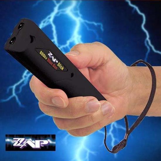 Picture of 800,000 Volt ZAP Stick Stun Gun with Case & Batteries
