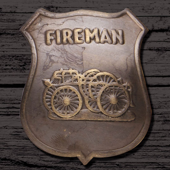 Fire Brigade Badge Replica