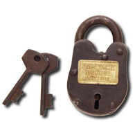 NY Insane Asylum Padlock with Keys