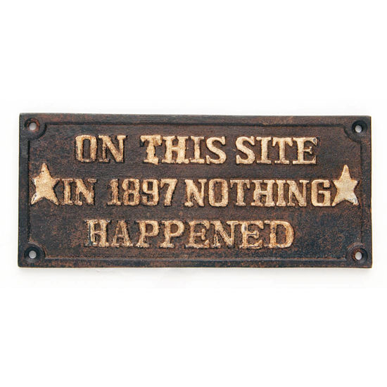 """Picture of """"On This Site"""" Plaque"""