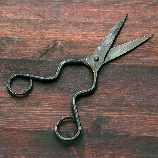 Picture of Retro Forged Iron Hourglass Handled Scissors