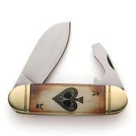 Old Fashioned Sunfish Ace of Spades Pocket Knife