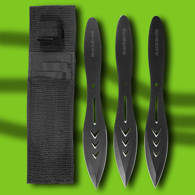 Solid 440 stainless steel, Black throwing knives