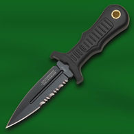 Mini Boot Knife with Black Finish Semi-Serrated Blade