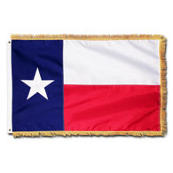Embroidered Fringed Texas Flag
