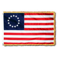 Picture of Embroidered Fringed Colonial Flag