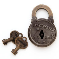 Winchester Round Six Lever Iron Lock