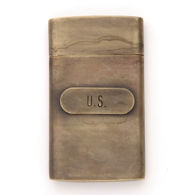 Brass US Civil War Map Case
