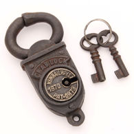 1870's NSW Crab Lock with Keys