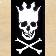 Picture of Skull with Crown Flag
