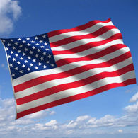 US Flag - Stars, Stripes, Red and Blue