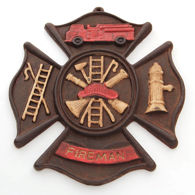Fireman Iron Wall Plaque