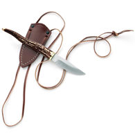 Stag Neck Knife with Thong